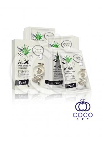 Тканевая маска Aloe 92% с экстрактом алоэ и белым жемчугом (10 штук) фото