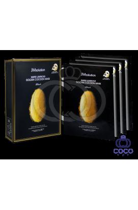 Тканевая маска JMsolution Water Luminous Golden Cocoon Mask с протеинами кокона золотого шелкопряда (10 штук)