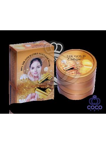 Гидрогелевые патчи 99% 24K Gold Collagen Eye Mask 60 штук фото