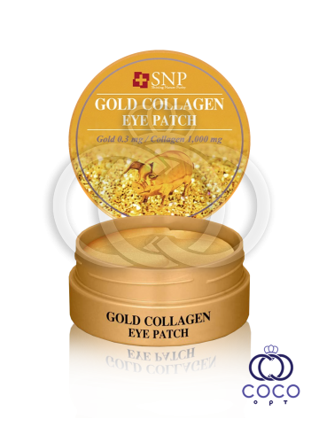Патчи гидрогелевые SNP Gold Collagen Eye Patch с коллагеном фото