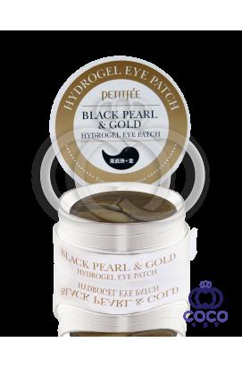 Патчи гидрогелевые  PETITFEE Black Pearl & Gold Hydrogel Eye Patch с черным жемчугом и золотом