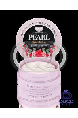 Патчи гидрогелевые  Koelf Hydro Gel Pearl & Shea Butter Eye Patch с маслом Ши и жемчугом