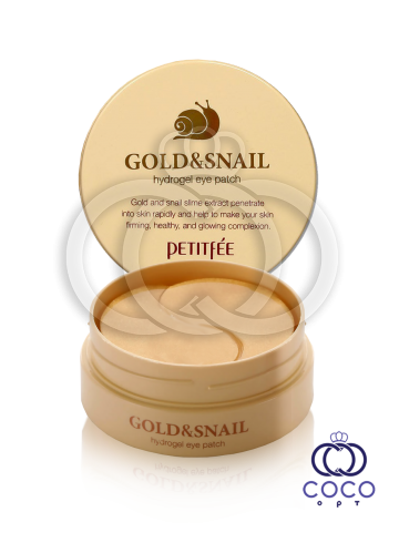 Патчи гидрогелевые  PETITFEE Gold & Snail с золотом и муцином улитки фото