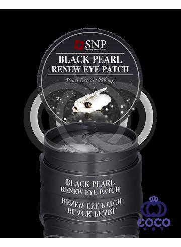 Патчи гидрогелевые SNP Black Pearl Renew Eye Patch с экстрактом чёрного жемчуга фото