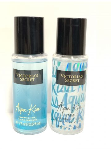 Подарочный набор Victoria`s Secret I Love Shimmer Aqua Kiss ( Мист и Спрей-Шиммер) БЕЗ УПАКОВКИ фото