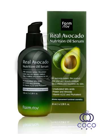 Сыворотка для лица Farm Stay Real Avocado Nutrition Oil Serum c авокадо фото