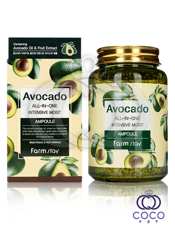 "Ампульная сыворотка Farm stay Avocado All-in-on Intensive Moist Ampoule Avocado ""Все в одном""  с авокадо  фото"