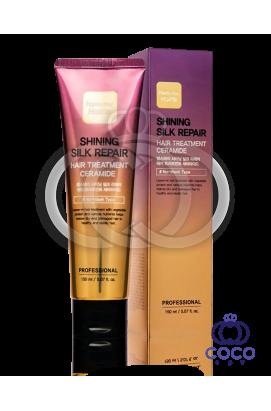 Маска для волос Farm stay Shining Silk Repair Hair Treatment Ceramide c керамидами